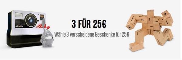 3 für 25 Euro