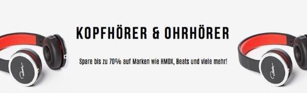 Kopfhörer bis zu 70% günstiger