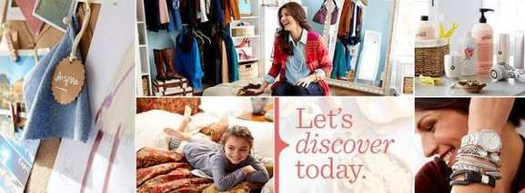 """QVC Angebote mit dem Slogan """"Let's discover today"""""""