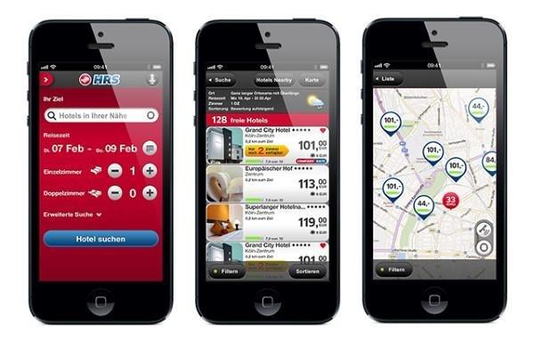 HRS App für iOS und Android
