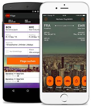 Die Opodo App für Android- und iOS-Geräte