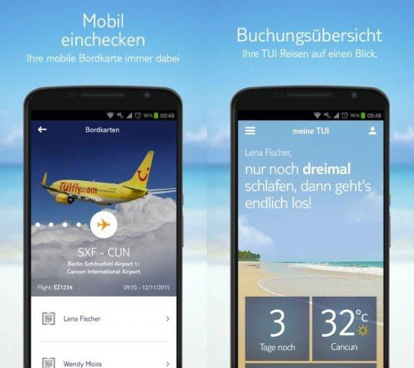 tui mobile app