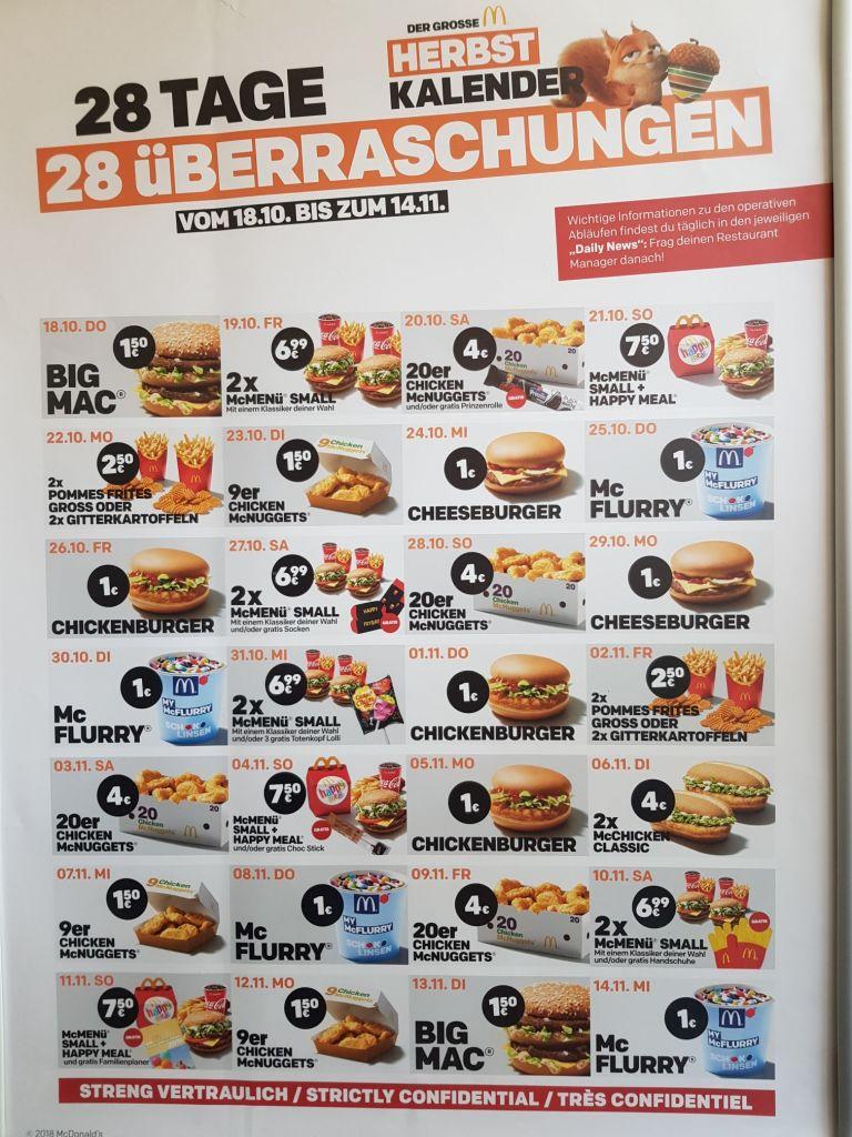 Big Mac Fur 1 50 Heute Morgen Mcflurry Fur 1 Letzte Tage Im