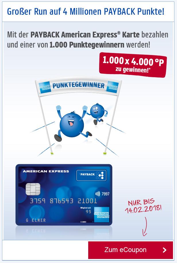 Payback American Express Kreditkarte Mit 4000 Punkten Entspricht
