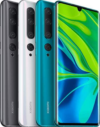 Xiaomi Mi Note 10 Farben