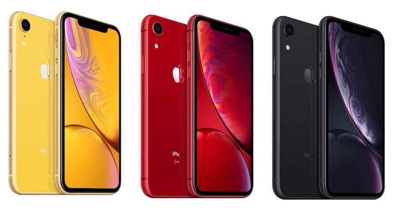 iphone xr in verschiedenen farben