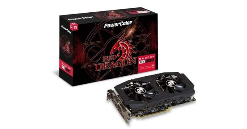 Grafikkarten 8GB PowerColor Radeon RX 580 Red Dragon