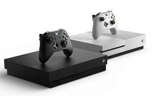 xbox konsolen in schwarz und weiß