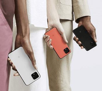 Google Pixel 4 XL Orange, Weiß und Schwarz