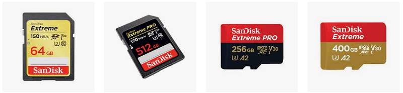 Speichermedien SanDisk microSD Karten