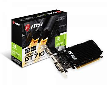 Grafikkarten 1GB MSI GeForce GT 710 LP Passiv