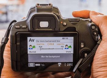 Canon Kamera EOS 200D Bildschirm