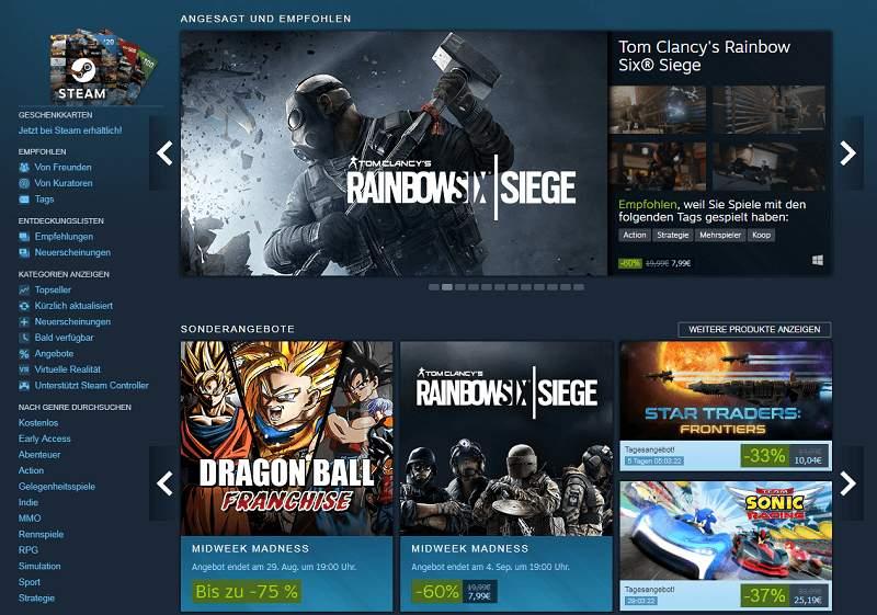 Steam Spiele Angebot
