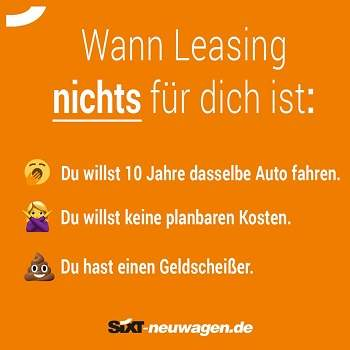 Auto Leasing privat Sixt Leasing