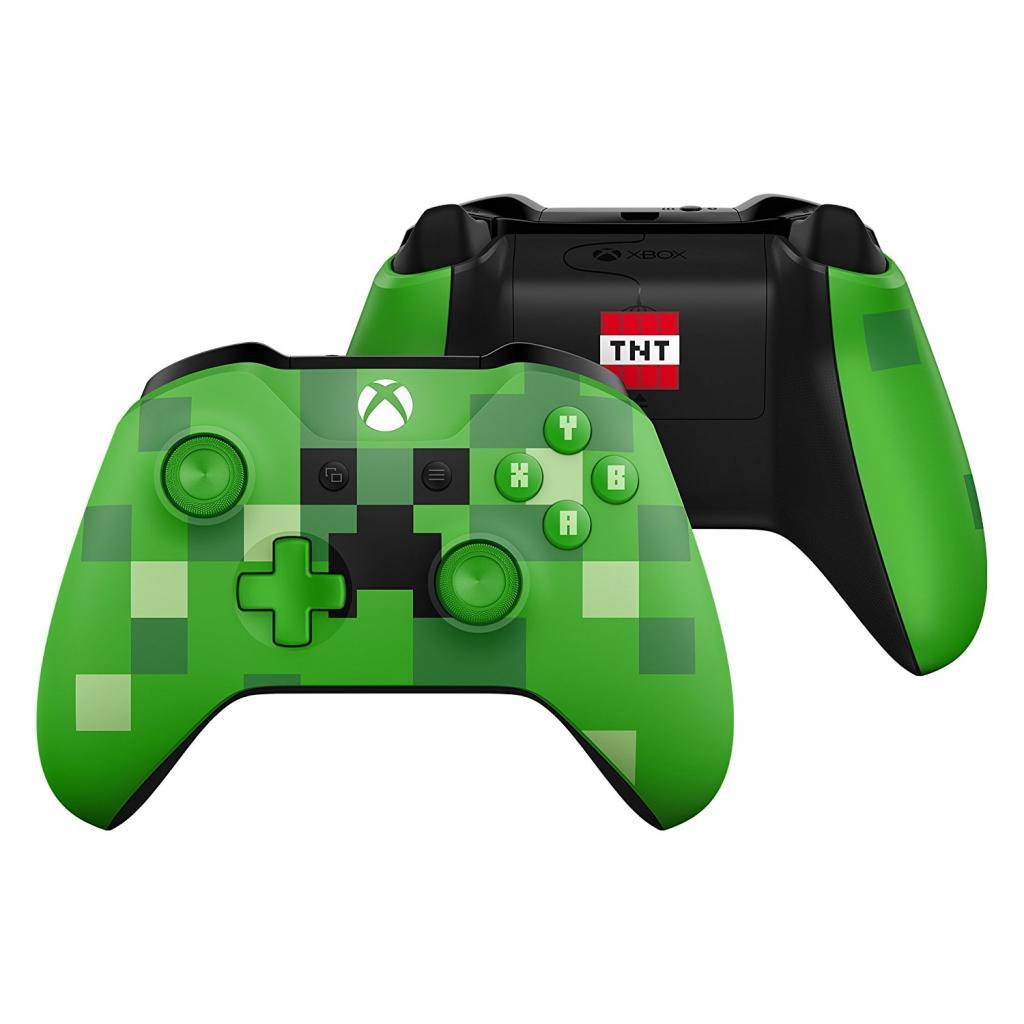 Xbox One S Wireless Controller Minecraft Green Limited Edition - Minecraft spielen bauen