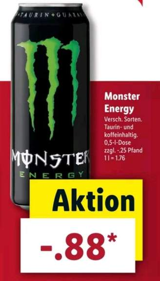 monster energy verschiedene sorten bei lidl und im. Black Bedroom Furniture Sets. Home Design Ideas