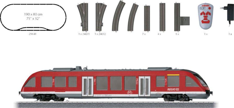 Märklin 24611 NEU gerade C-Gleis Weiche links aus Startset