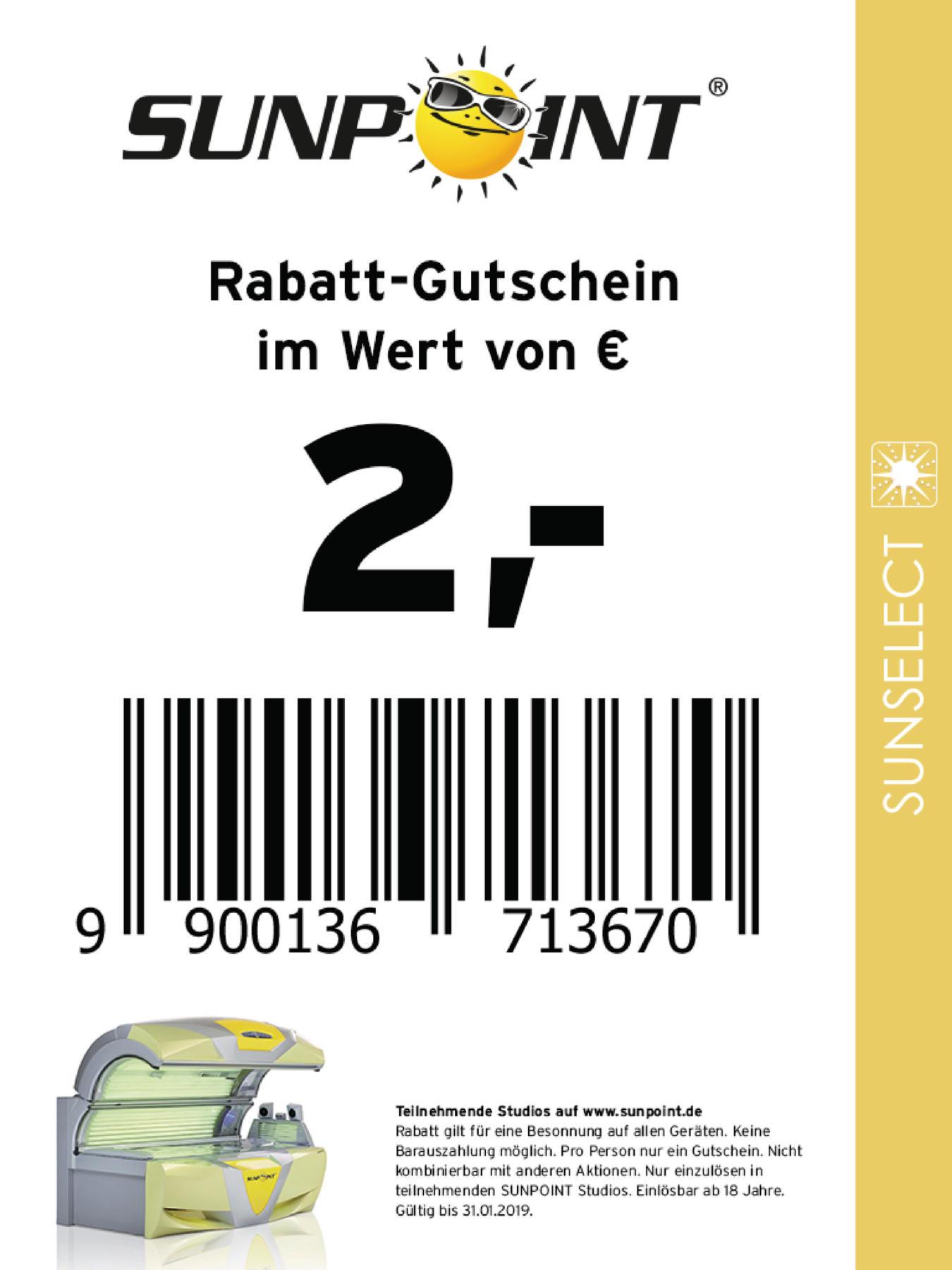 Sunpoint coupons köln