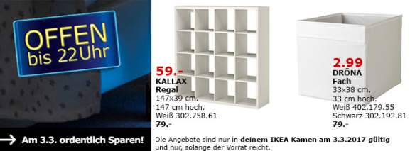 lokal ikea kamen regal kallax 4x4 wei 59 fach dr na wei 2 99. Black Bedroom Furniture Sets. Home Design Ideas