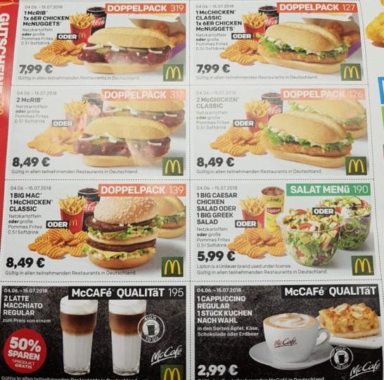 Mcdonalds coupons mai