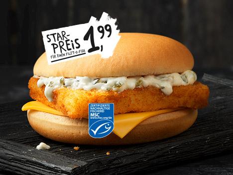 Filet o fish fr her fishmac f r 1 99 bei mcdonals for Mcdonalds filet o fish deal