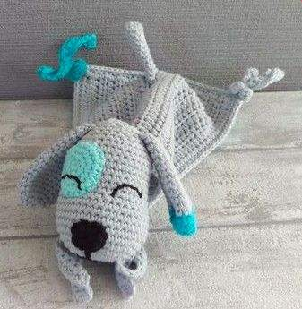Häkelanleitung Für Einen Schnuffeltuch Hund Gratis Bei Makerist