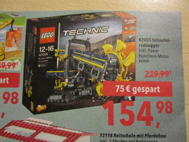 Toysrus Blackprices Lego Technic 42055 Schaufelradbagger Inkl