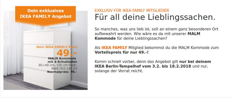 ikea berlin malm kommode 4 schubladen wei vom 3 2 bis 18 2 statt 79 f r 49. Black Bedroom Furniture Sets. Home Design Ideas
