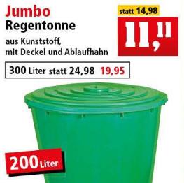 Thomas Philipps Jumbo Regentonne Mit Deckel Und Ablaufhahn
