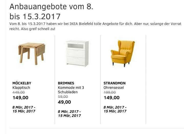 ikea bielefeld m ckelby klapptisch eiche f r 149 statt. Black Bedroom Furniture Sets. Home Design Ideas