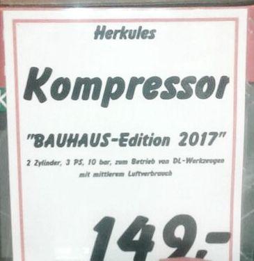 herkules kompressor 3 ps 10 bar f r 149 eur. Black Bedroom Furniture Sets. Home Design Ideas