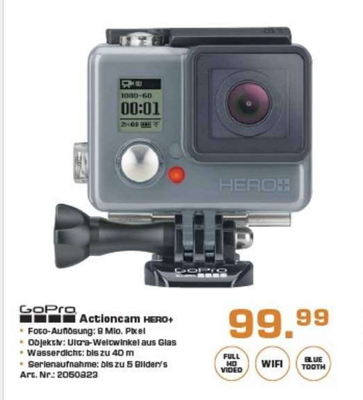 gopro hero actioncam f r 99 99 saturn. Black Bedroom Furniture Sets. Home Design Ideas