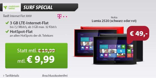mobilcom debitel 3 gb lte datenflat im telekom netz. Black Bedroom Furniture Sets. Home Design Ideas