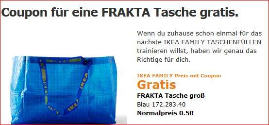 ikea gratis frakta tasche gro f r family mitglieder. Black Bedroom Furniture Sets. Home Design Ideas