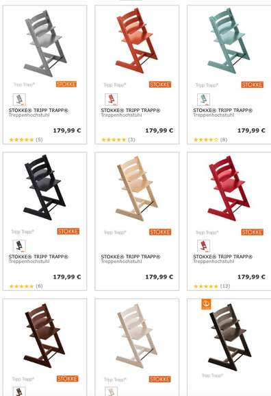 stokke tripp trapp in vielen farben f r 151 94 bei babywalz. Black Bedroom Furniture Sets. Home Design Ideas