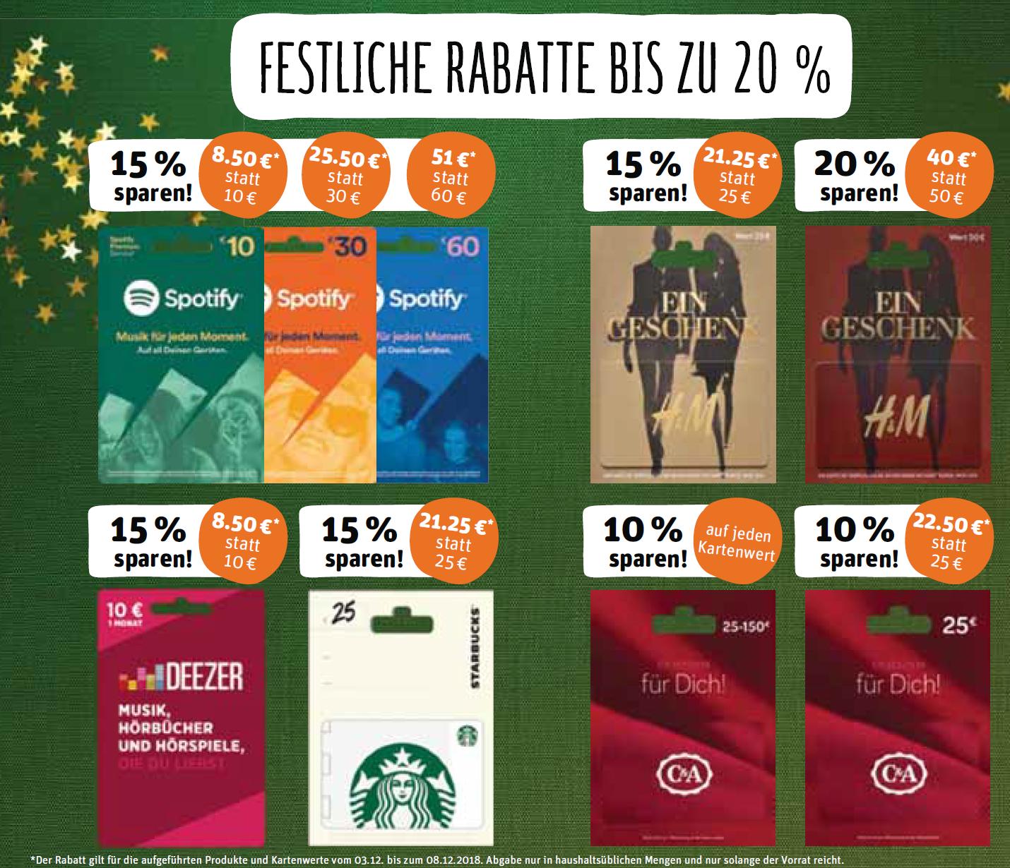 Paypal Karte Rewe.20 Rabatt Auf H M 15 Deezer Spotify Starbucks 10 C A