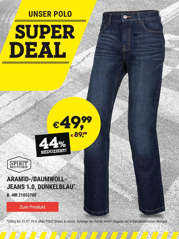 ea7ee48a284c Polo Motorrad: Aramid Jeans (mit Schutzfunktion) 49,99 Euro statt 89 ...