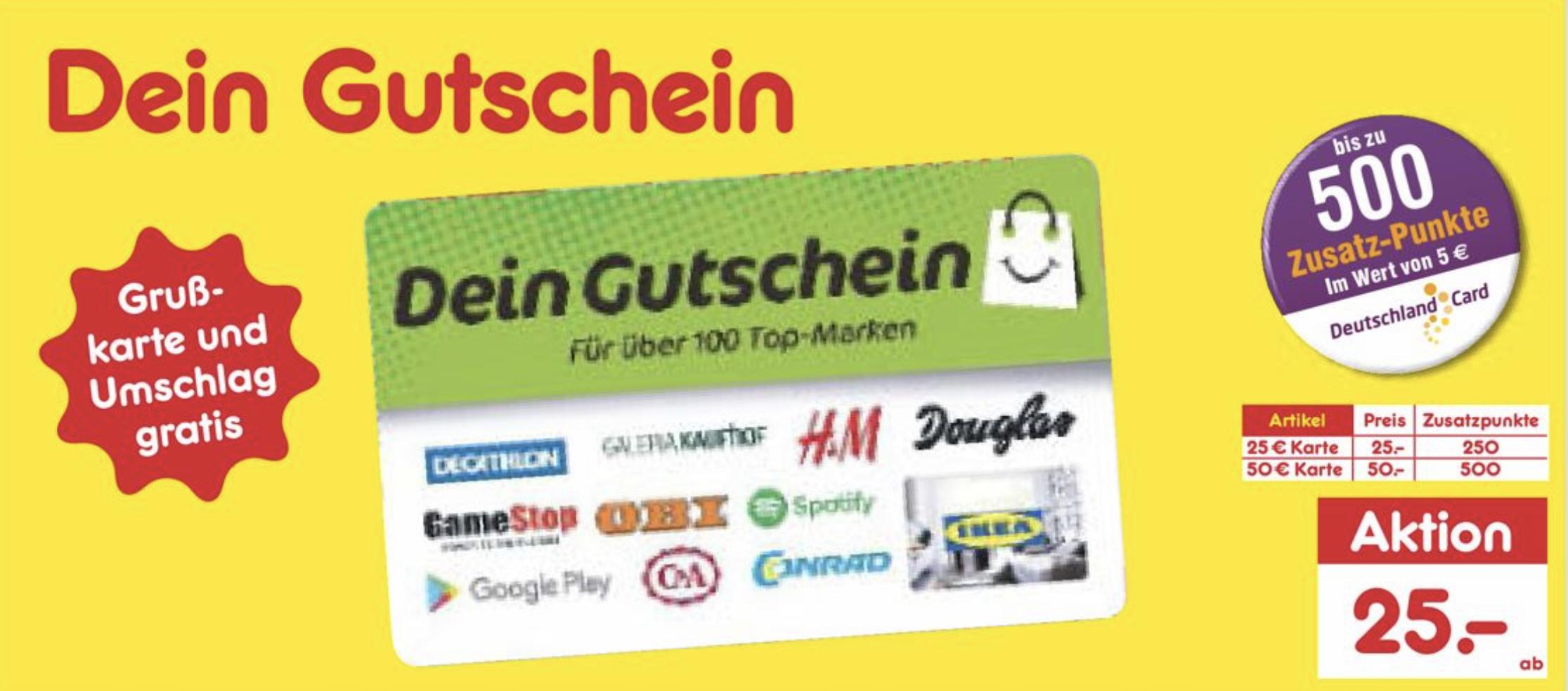 deutschlandcard otto 500 punkte