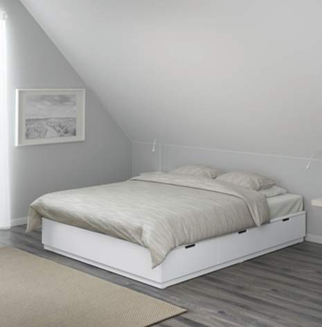 verschiedene betten mit aufbewahrung f r ikea family mitglieder reduziert z b brimnes 129. Black Bedroom Furniture Sets. Home Design Ideas