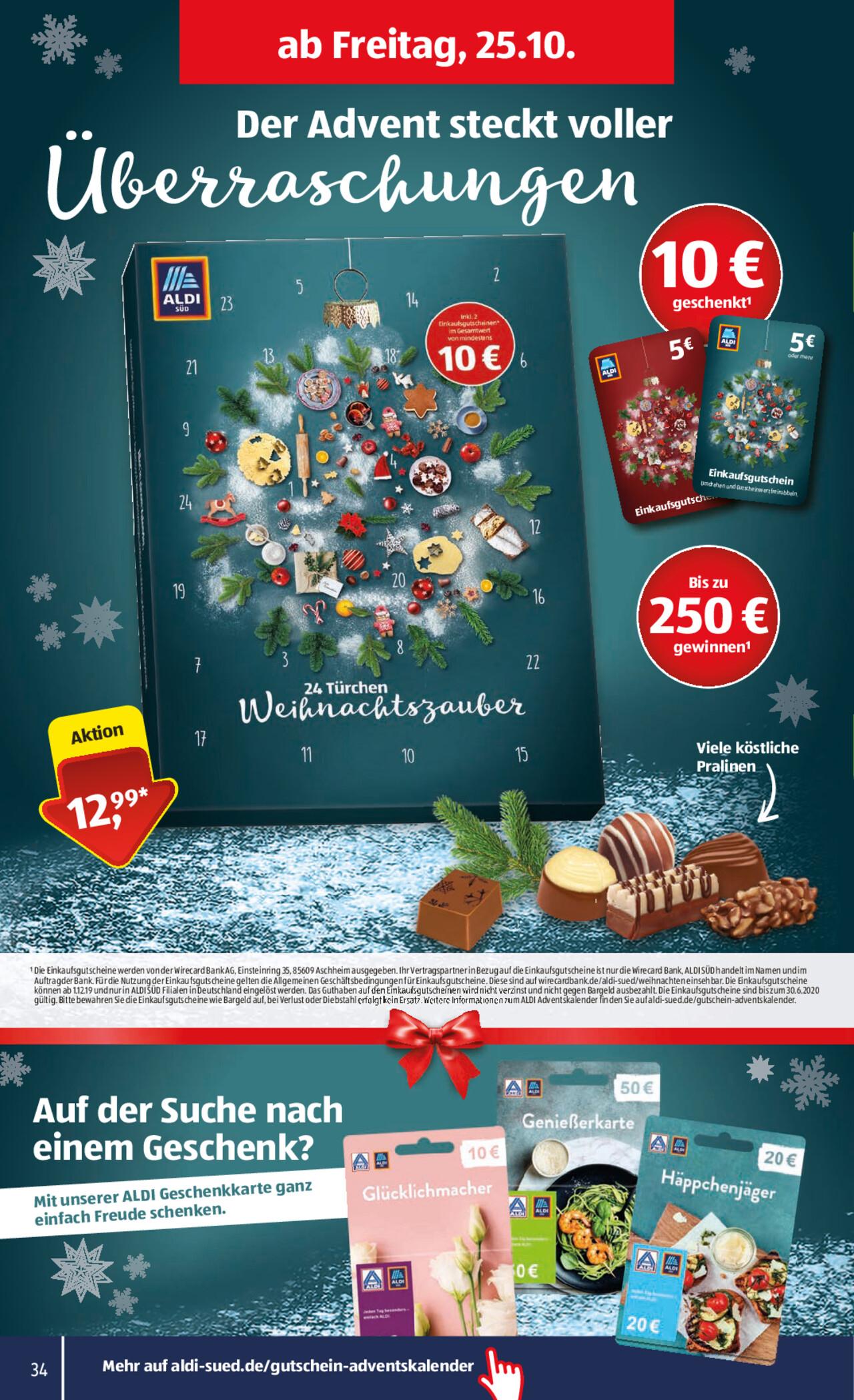 Aldi Weihnachtsdeko.Aldi Bundesweit Adventskalender Mit Mindestens 10