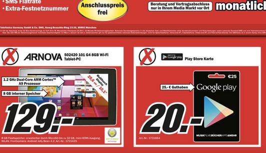 2f4313aaea7208 25€ Google Play Guthaben für 20€ - bei Media Markt NRW - mydealz.de