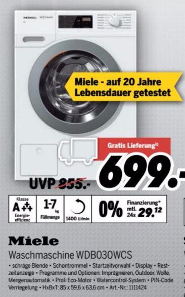 Medimax] Miele WDB030 WCS Eco Waschmaschine lotosweiß EEK: A+++ ...