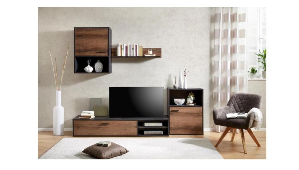 momax wohnwand angebot. Black Bedroom Furniture Sets. Home Design Ideas