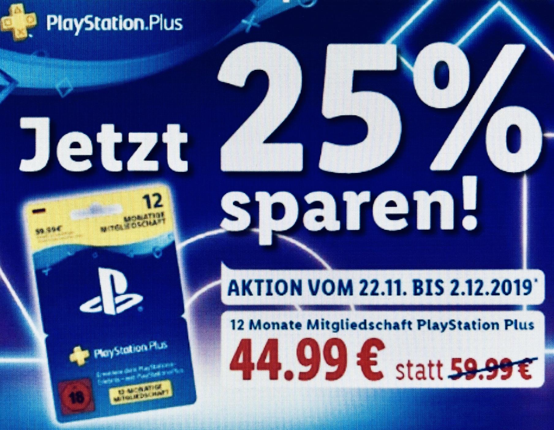 Lidl 12 Monate Sony Playstation Plus Mitgliedschaft Fur 44 99