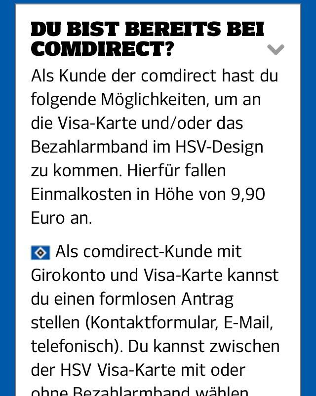 Visa Karte Comdirect.50 Startguthaben O Bedingungen Durch Eröffnung Von Comdirect Hsv