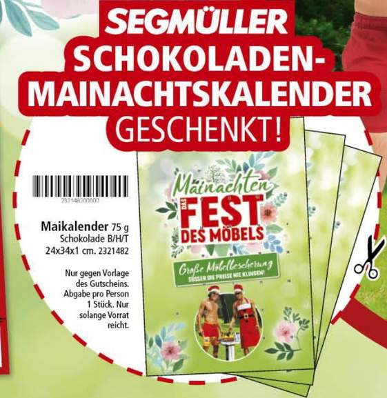 weiterstadt coupon f r kostenlosen maikalender schokolade 75g in pdf segm ller. Black Bedroom Furniture Sets. Home Design Ideas