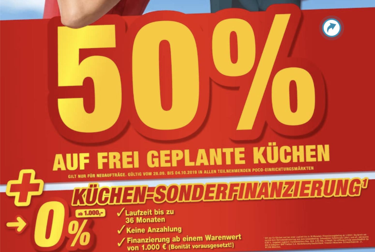 POCO: 20% Rabatt auf fast Alles, 50% auf frei geplante