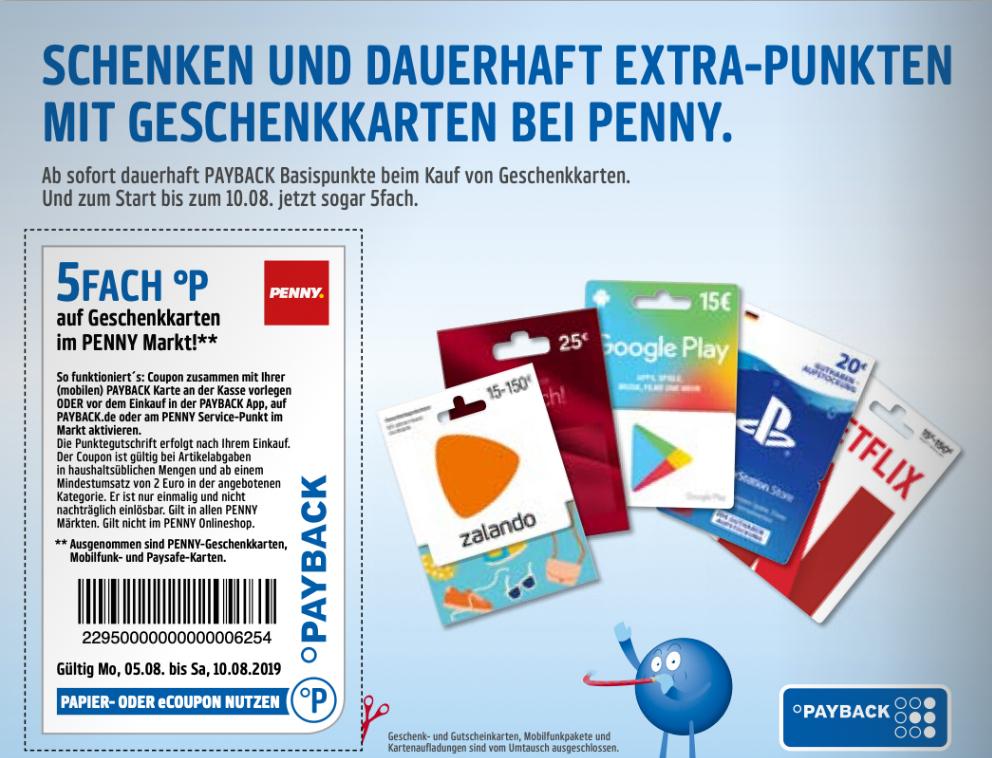Rewe Karte.Rewe Penny Dauerhaft Payback Punkte Beim Kauf Von Geschenkkarten