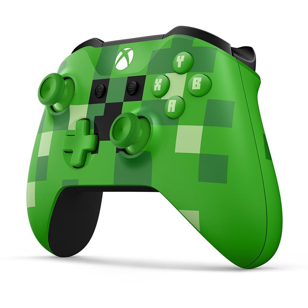 Xbox One S Wireless Controller Minecraft Green Limited Edition - Minecraft xbox spielen