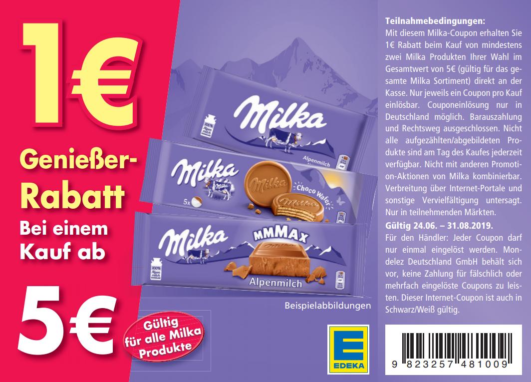 100 Sofort Rabatt Coupon Zum Ausdrucken Für Milka Produkte Im Wert